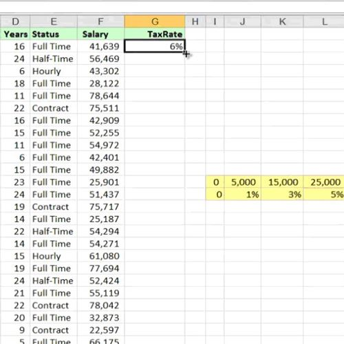 Excel calculates the value