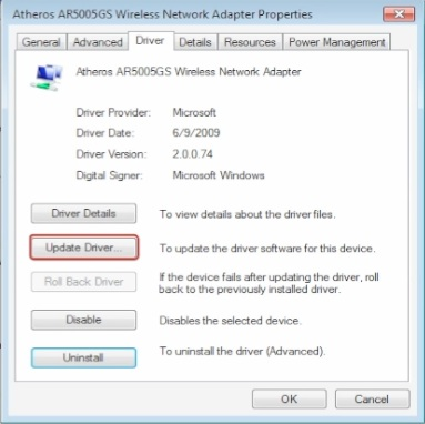 install drivers for wireless adapter
