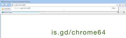 write is.gd/ chrome64 in browser