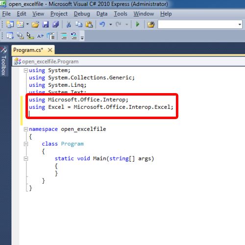 adding libraries to access Office functions