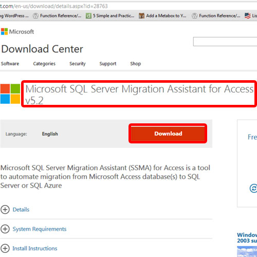installing migration tool to import data