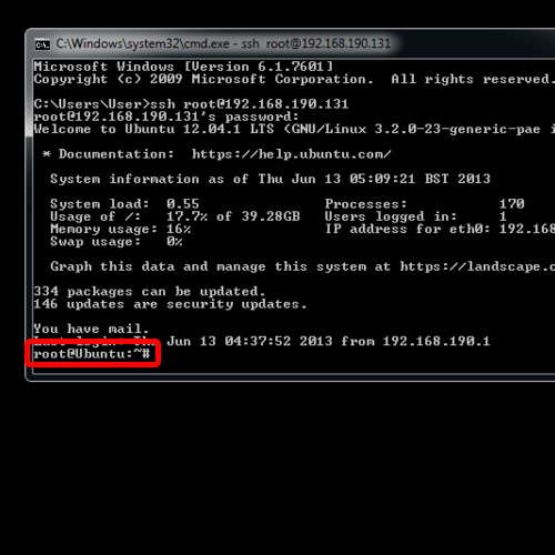 a linux like access to SSH server