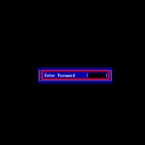 Successfully set a booting password