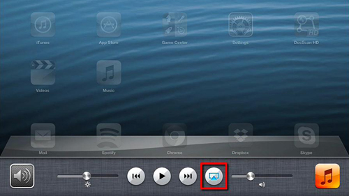The AirPlay icon