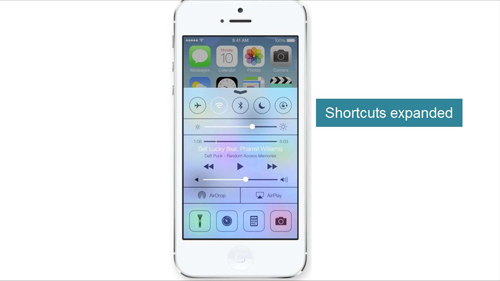 Expanded shortcuts