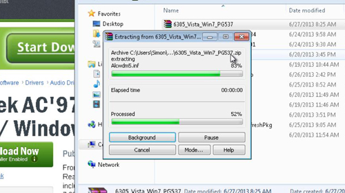 Extracting the file