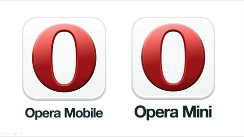 The two types of Opera browser for mobile devices