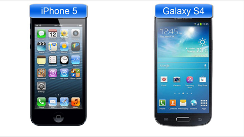 The two leading phones from iPhone and Samsung