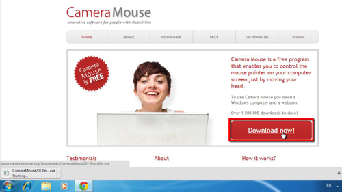 Downloading CameraMouse