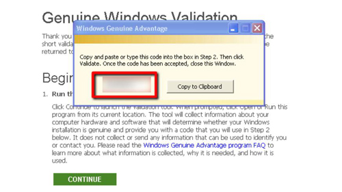 Validating Windows before the download