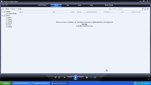 The latest Windows Media Player for XP up and running