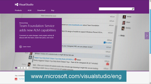The Microsoft page about Visual Studio