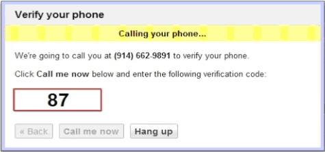 Google will assign your brand new number