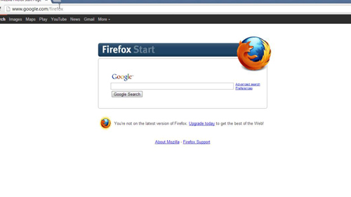 Use Firefox home instead