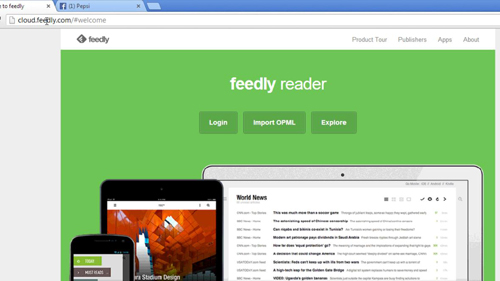 Opening Feedly