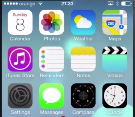 choose Settings from home screen of iPhone running iOS 7