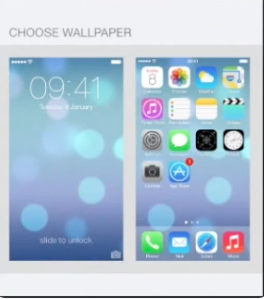 setting the wallpaper for lock screen view in iOS 7