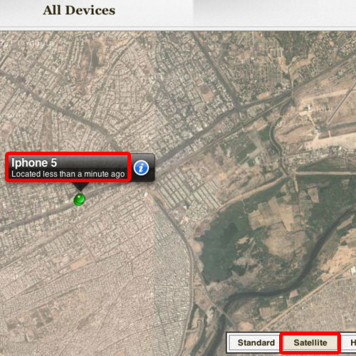 View iphone location on google maps