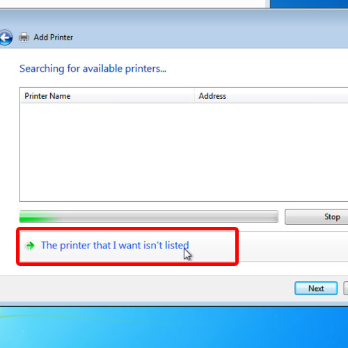 when the printer is not available
