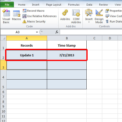 displaying system date
