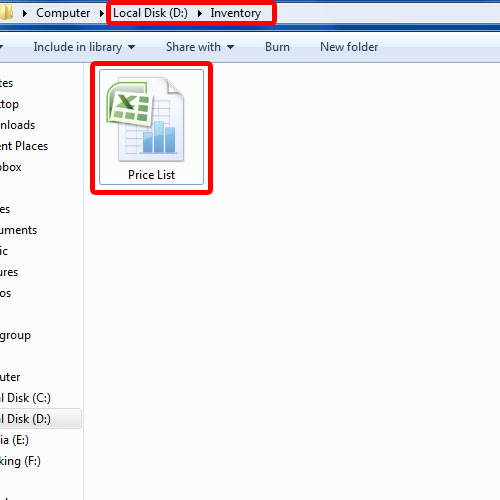 View the saved file in selected directory