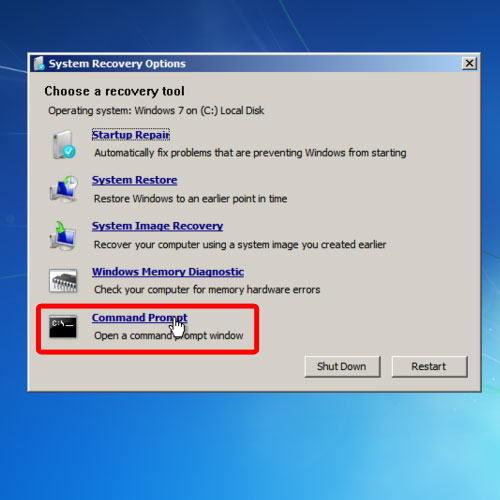Open command prompt as an administrator