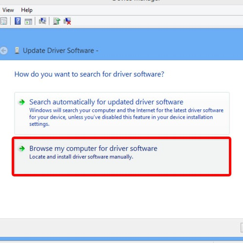 Locate the driver on your pc