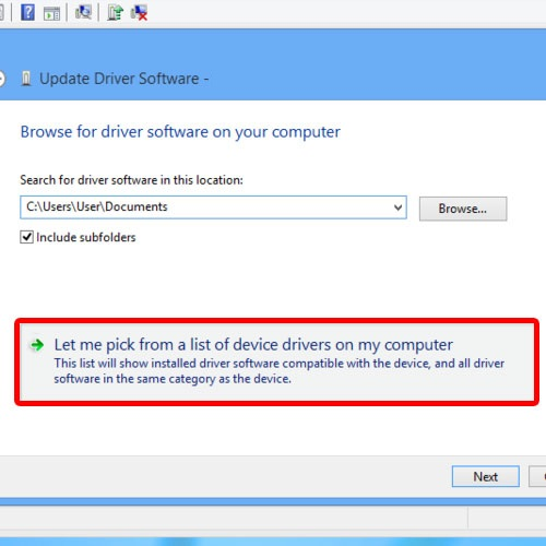 View installed driver software