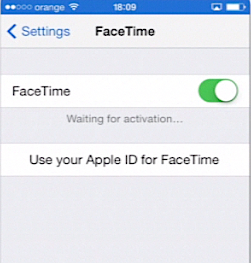 enabling Facetime on iPhone running on iOS 7