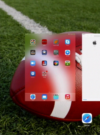 display of lately active apps on iPad running on iOS 7