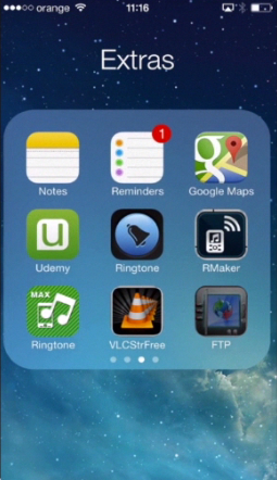 "tapping the "" FTP to GO Lite"" icon on iPhone running on iOS 7"