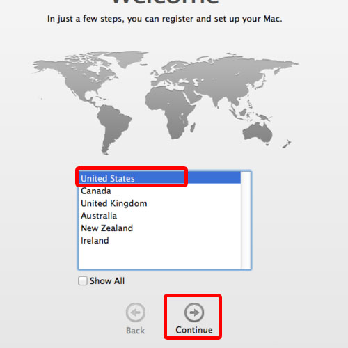 Register and set up your Mac