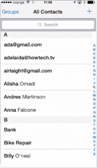 adding contacts to your iPhone agenda