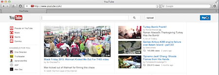 signing in to YouTube channel using Mac