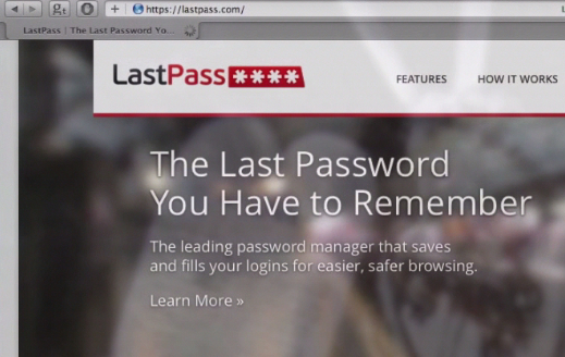 Last Pass, the password manager website