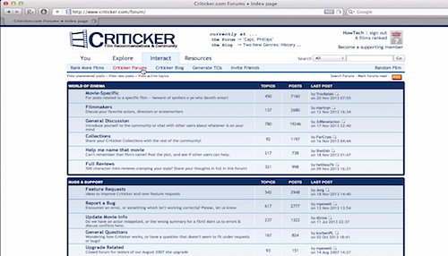 "demonstrating ""Criticker"" website"
