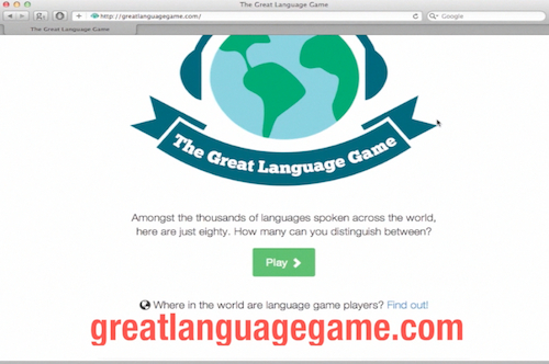 accessing language game website