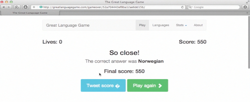 end of language game