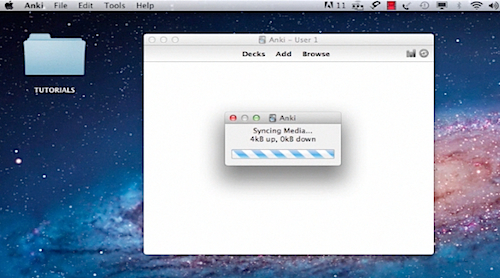 installing Anki Flashcards learning system on a Mac