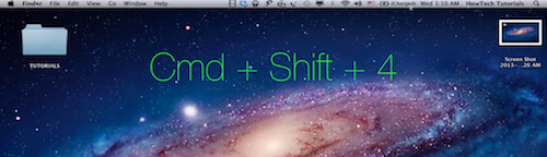 "the combination of ""Command"", ""Shift"" and ""4""  keys takes the screenshot of a part of the screen"