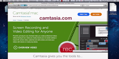 downloading free trial of Camtasia on a Mac