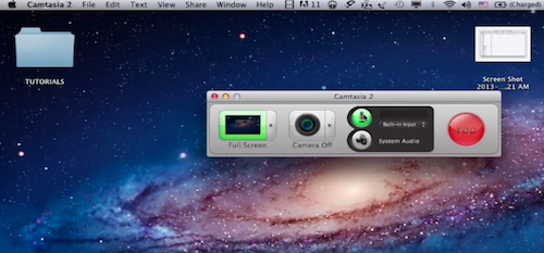 activating the sound option for the future Camtasia recording on a Mac