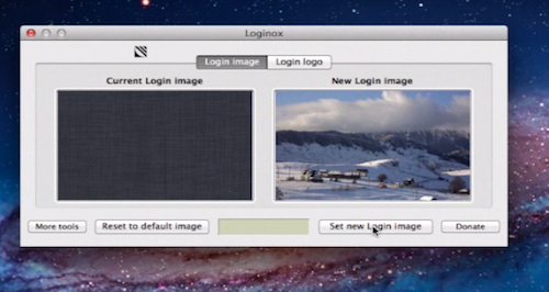 setting a new Login image for Mac running on OS X 10.7
