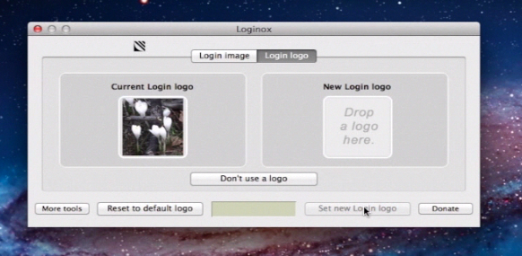 applying a new login logo image with the help of Loginox