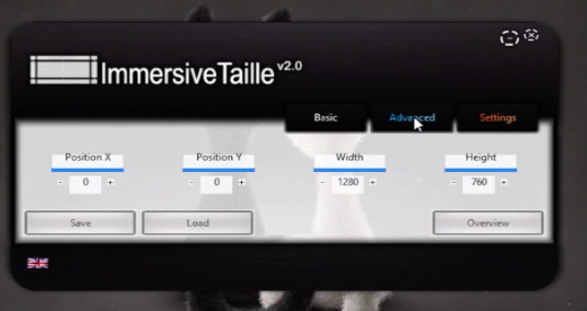 """the """"Advanced"""" menu of ImmersiveTaille app"""