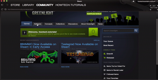Steam Greenlight feature