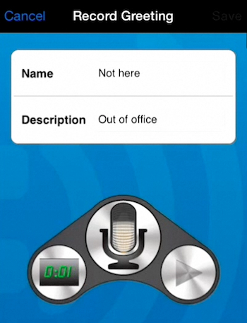 recording a new voicemail greeting on iPhone running  on iOS 7