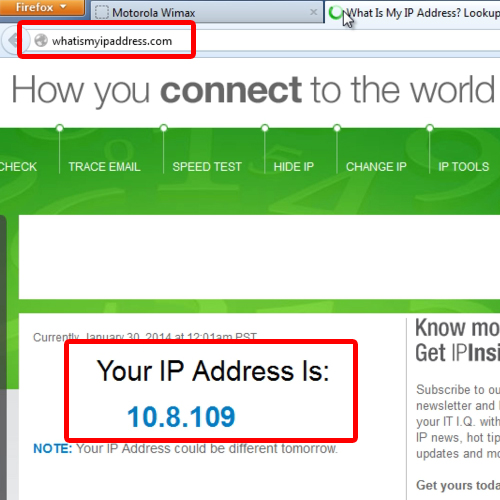 another way to determine the IP address
