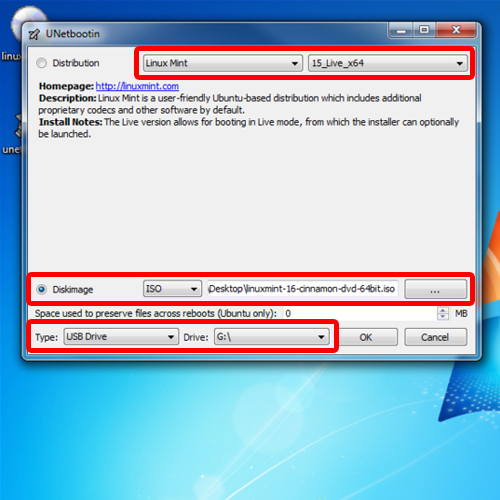 creating a bootable usb stick