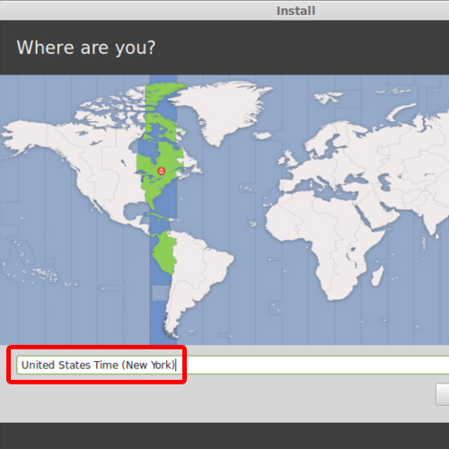 setting up the time zone